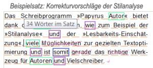 """""""Papyrus Autor"""" Stilanalyse - Korrekturvorschläge"""