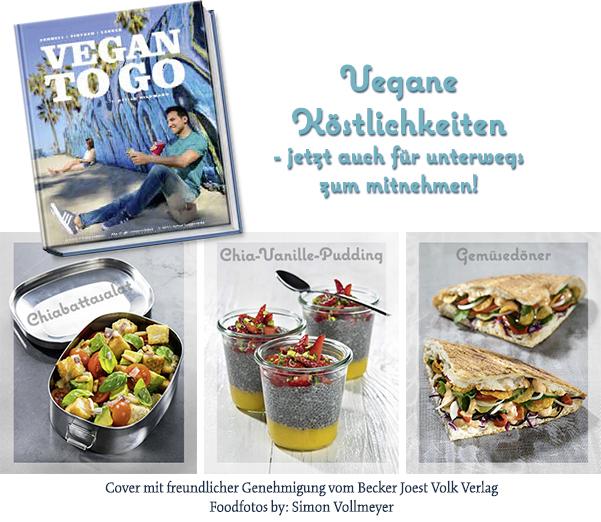 """""""Vegan to go"""" von Attila Hildmann – Cover mit freundlicher Genehmigung vom Becker Joest Volk Verlag."""